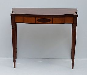 Federal Mahogany and Inlaid Games Table, Ca. 1800