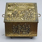 Dutch Stamped Brass Coal Hod, 19th C.