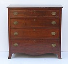 Federal Walnut Four Drawer Chest, circa 1815