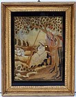 Late 18th C. Needlework, Picture of a Shepherdess