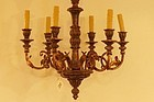 Italian Carved Wood Toned Fixture, 20th C.