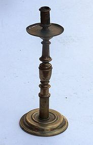 17th C Spanish Brass Candlestick.