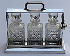 English Silver Plated Tantalus Set, circa 1880