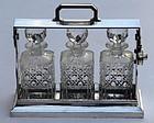 English Silver Plated Tantalus Set, circa 1880