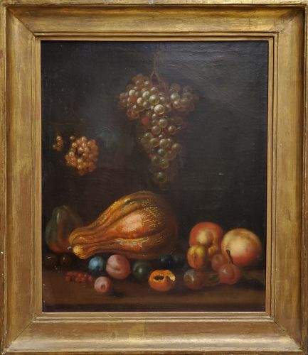 Italian School Still Life Painting, 18th C.