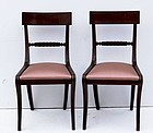 Pair of George III Mahogany Side Chairs, circa 1810-1820