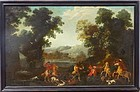 Flemish School Painting, Boar Hunt, 17th C.