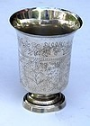 Continental prob. French Silver Beaker, 19th C.
