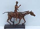 French Artists Model of Horse and Rider, 19th Century