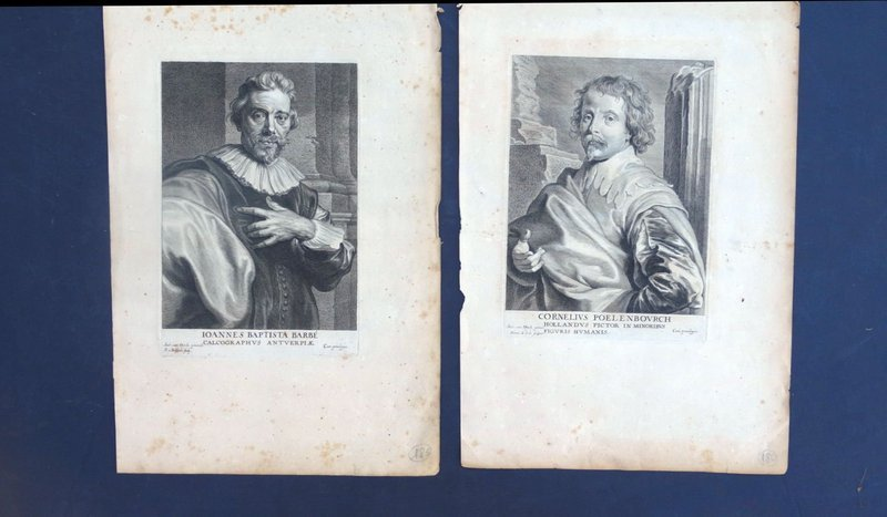 Engravings, Anthony van Dyck, J.B.Barbe, C. Poelenbourch, 17th C.