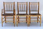 Set of Six Federal Painted Fancy Chairs ca. 1820