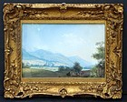 Continental Gouache Landscape, prob. mid-19th C.