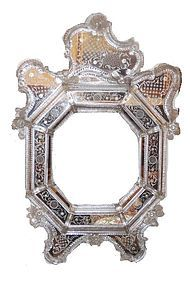 Large 19th Century Octagonal Venetian Mirror