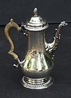 George III English Silver Coffee Pot, London, circa 1775