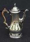 George III English Silver Coffee Pot, London, circa 1775