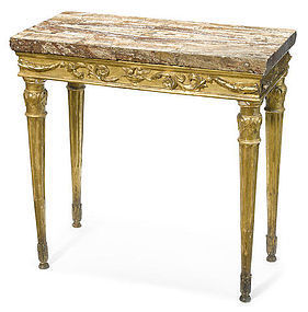 Italian Carved and Giltwood Console Table, circa 1785.