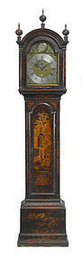 George III Chinoiserie Tall Case Clock, circa 1780