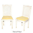 Set of Four Painted Louis XVI-Style Side Chairs, 20th C