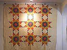 American Star Patterned Quilt Ca. 1840-60