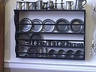American Black Painted Pewter Rack