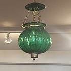 Anglo Indian Glass Hanging Lantern