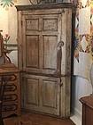 American Painted Pine Corner Cupboard