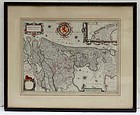 William Blaeu Map of Hollandia Comitatus