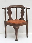 George II Mahogany Corner Chair, ca. 1750.