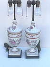 Pair of Samson Porcelain Lamps, Late 19th Century