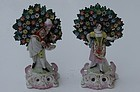 Pair of Chelsea-Style Porcelain Figures, England, E 20th C.