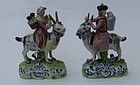 Pair of English Pottery Figures, late 19th C