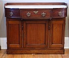 English Mahogany and Marble Top Server, circa 1850