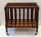 George III-Style Mahogany Canterbury, late 19th C