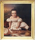 American School Portrait of a Child, 2nd Q 19th C.