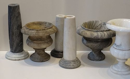 Group of Marble Items, French, late 19th C.