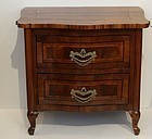 South German Walnut Commode, early 19th C.