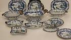 Group of Ironstone Imari pattern Porcelain, England 19thC
