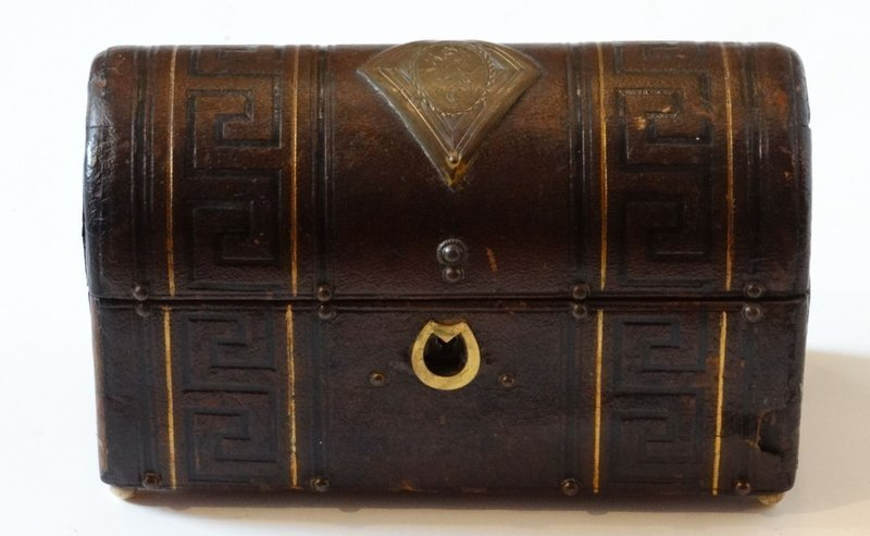 Regency Tooled Leather Dome-Topped Box Circa, 1825