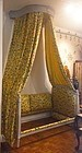 French Louis XVI Painted Day Bed With Original Corona