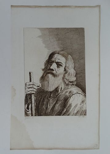 Moses after Franceso Barbieri called Guercino (1591-1666)