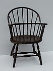 American Windsor Style Sack Back Armchair, 20th C