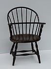 American Windsor Style Sack Back Armchair, 20th C