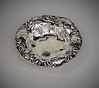 American Sterling Art Nouveau Nut Dish, early 20th C
