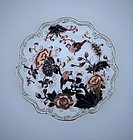 Coalport Style Scalloped Plate, 20th Century