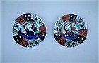 Pair of Japanese Imari Plates, 19th Century