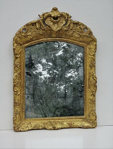 Louis XV Carved Gilt Wood Mirror