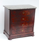 Louis Phillipe Marble Top Cabinet, Circa 1840