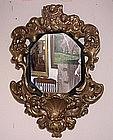 Baroque-Style Giltwood Mirror.