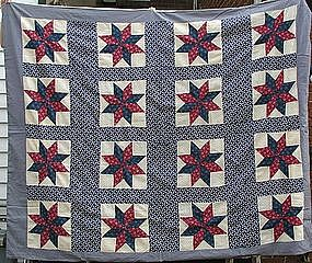 American Pieced Quilt Top, late 19th C.