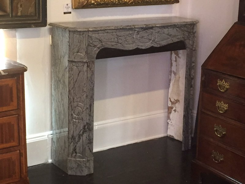 Louis XV-Style Marble Mantel, 20th C.